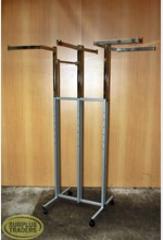 6 Way Clothing Rack on Castors