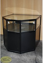 Glass Display Cabinet Black