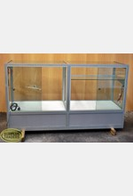 Glass Display Case Silver