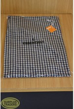 Apron Gingham Navy / Taupe