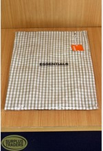 Apron Gingham White / Taupe