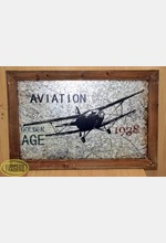 Aviation Print Wooden Frame