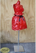 Torso with Red Paper Dress